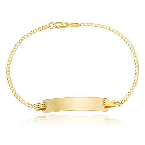 10k Gold 6 Inch Baby Id Cuban Link Chain Bracelet Bracelets Chain Bracelet Cuban Link Chain