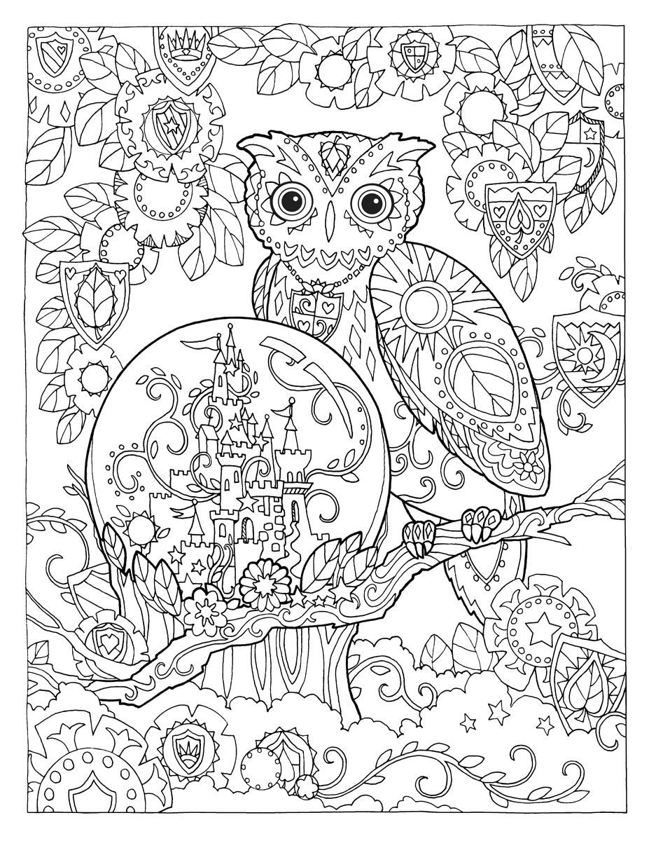 fox snow globe coloring pages - photo#13