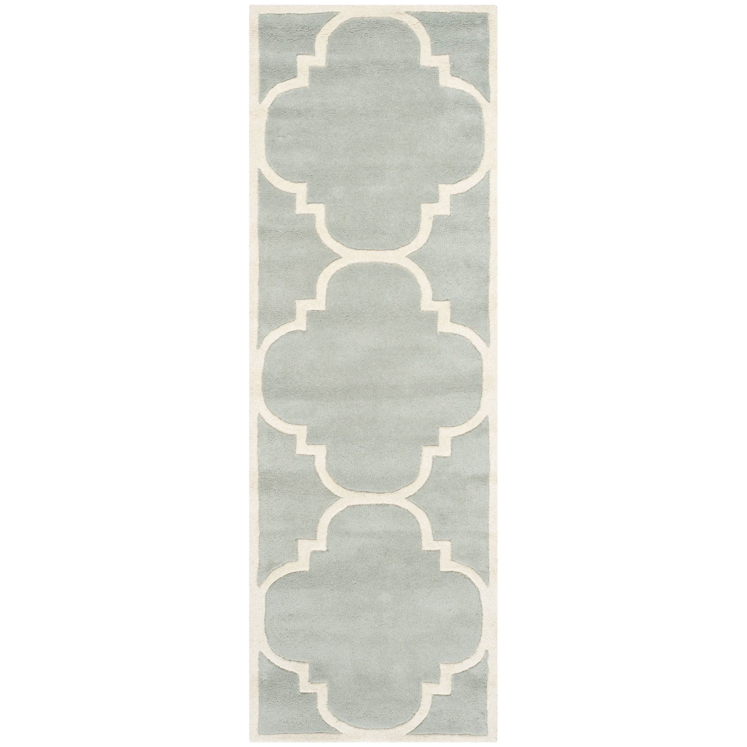 Safavieh Chatham Gray Handmade Moroccan Contemporary Wool Rug 2 3 X 11