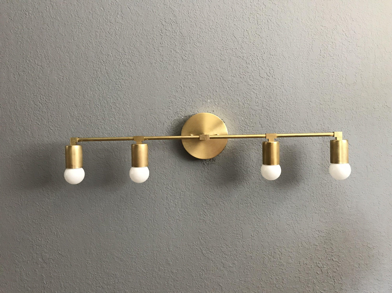 Floki Wall Sconce 4 Bulb Vanity Bathroom Lighting Mid Century Etsy Bathroom Lighting Bathroom Light Fixtures Wall Sconces