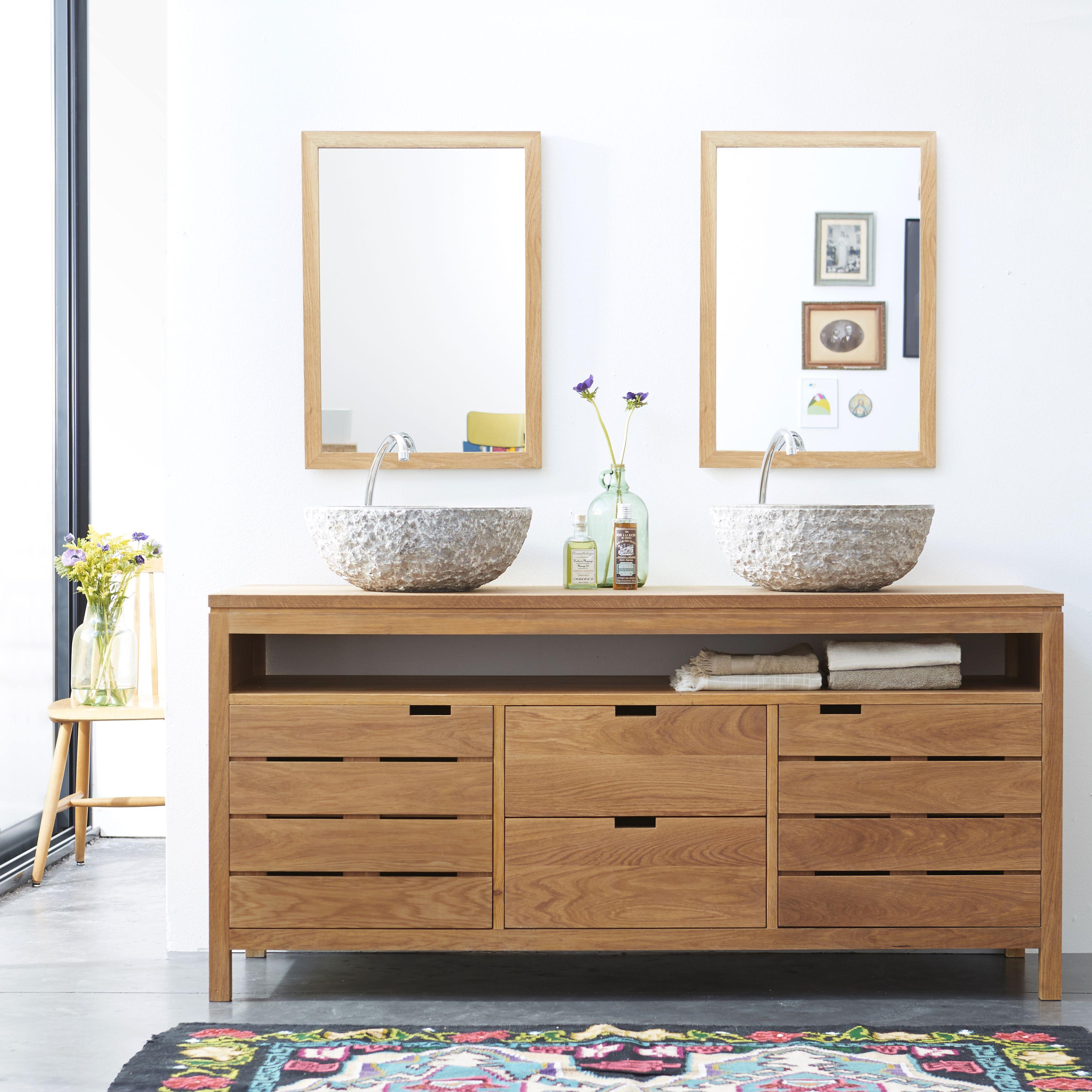 Colonne Salle De Bain Tikamoon ~ meuble salle de bain en ch ne 165 serena oak meuble salle de bain