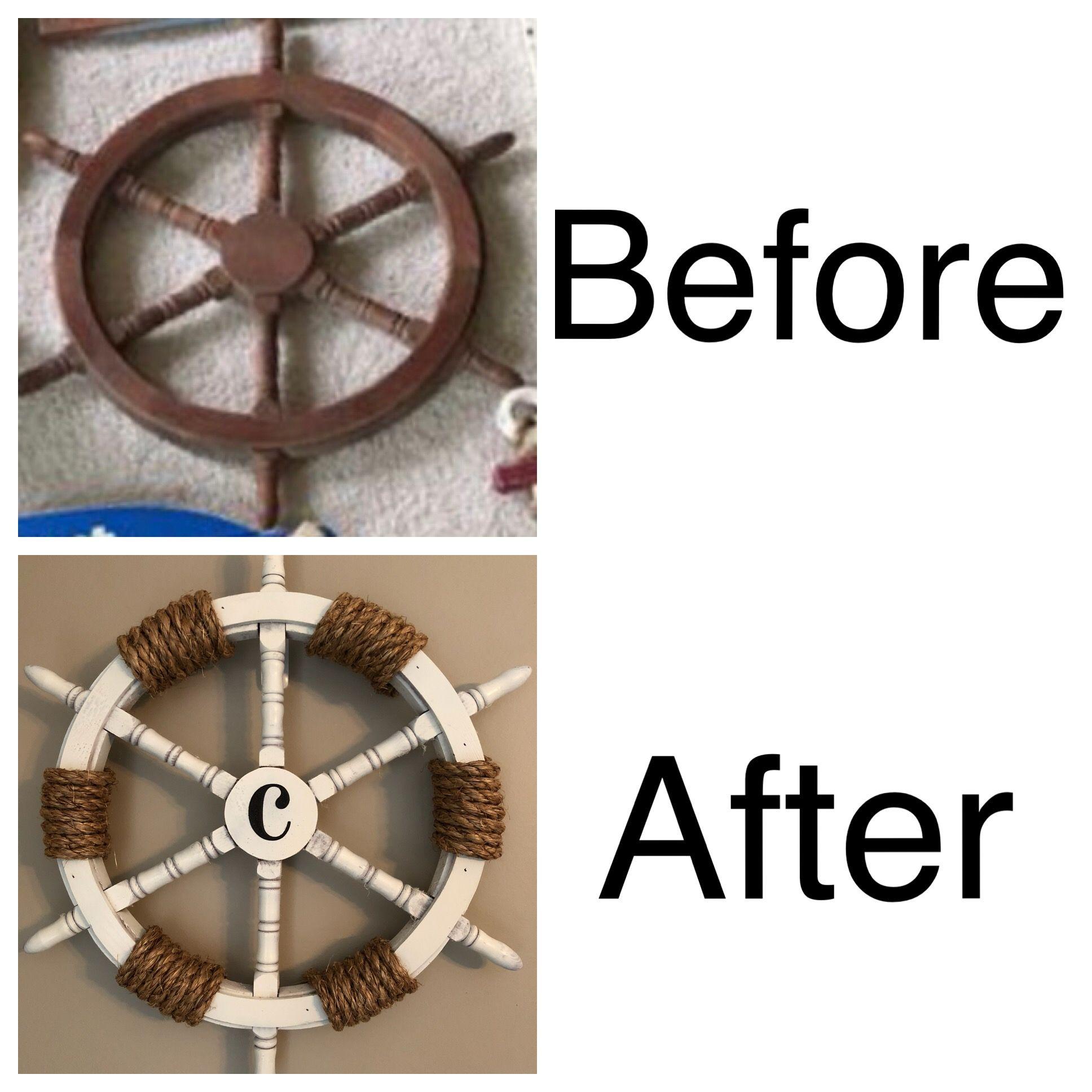 Diy Nautical Decorations Ships Helm Ship Wheel Decor Nautical Decor Diy Ship Wheel