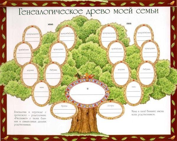 Шаблон генеалогическое древо семьи генеалогия для всей | Генеалогическое  древо, Семейное дерево шаблоны, Семейное дерево