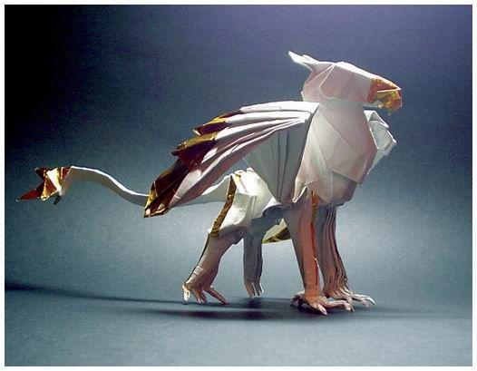 origami griffin by akira yoshizawa grandmaster of