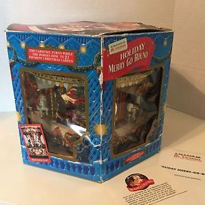 1994 Mr Christmas Holiday Merry Go Round Carousel 21 Christmas Carols | eBay