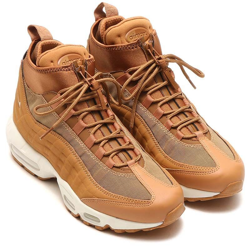 air max 95 sneakerboot flax flax ale brown
