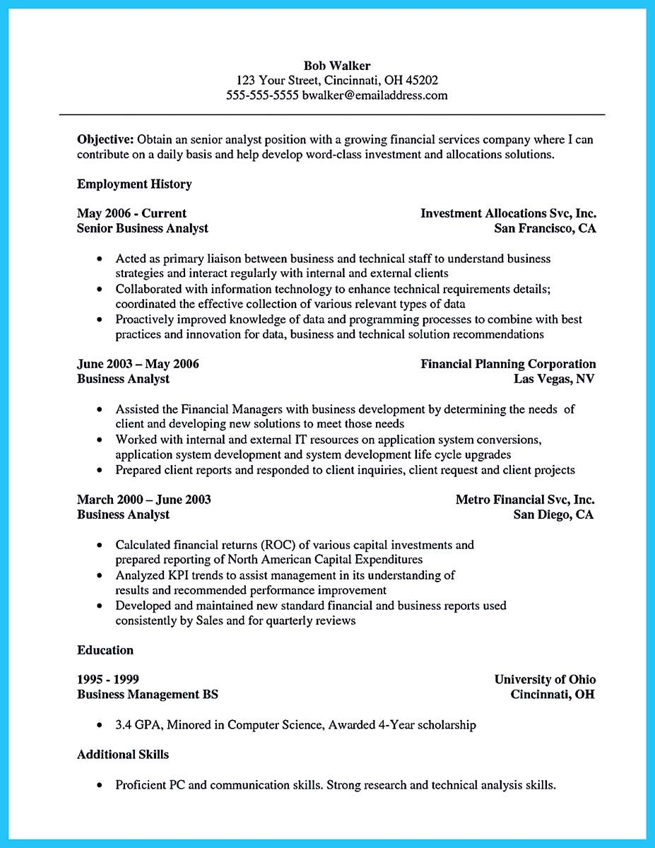 awesome Cool Credit Analyst Resume Example from