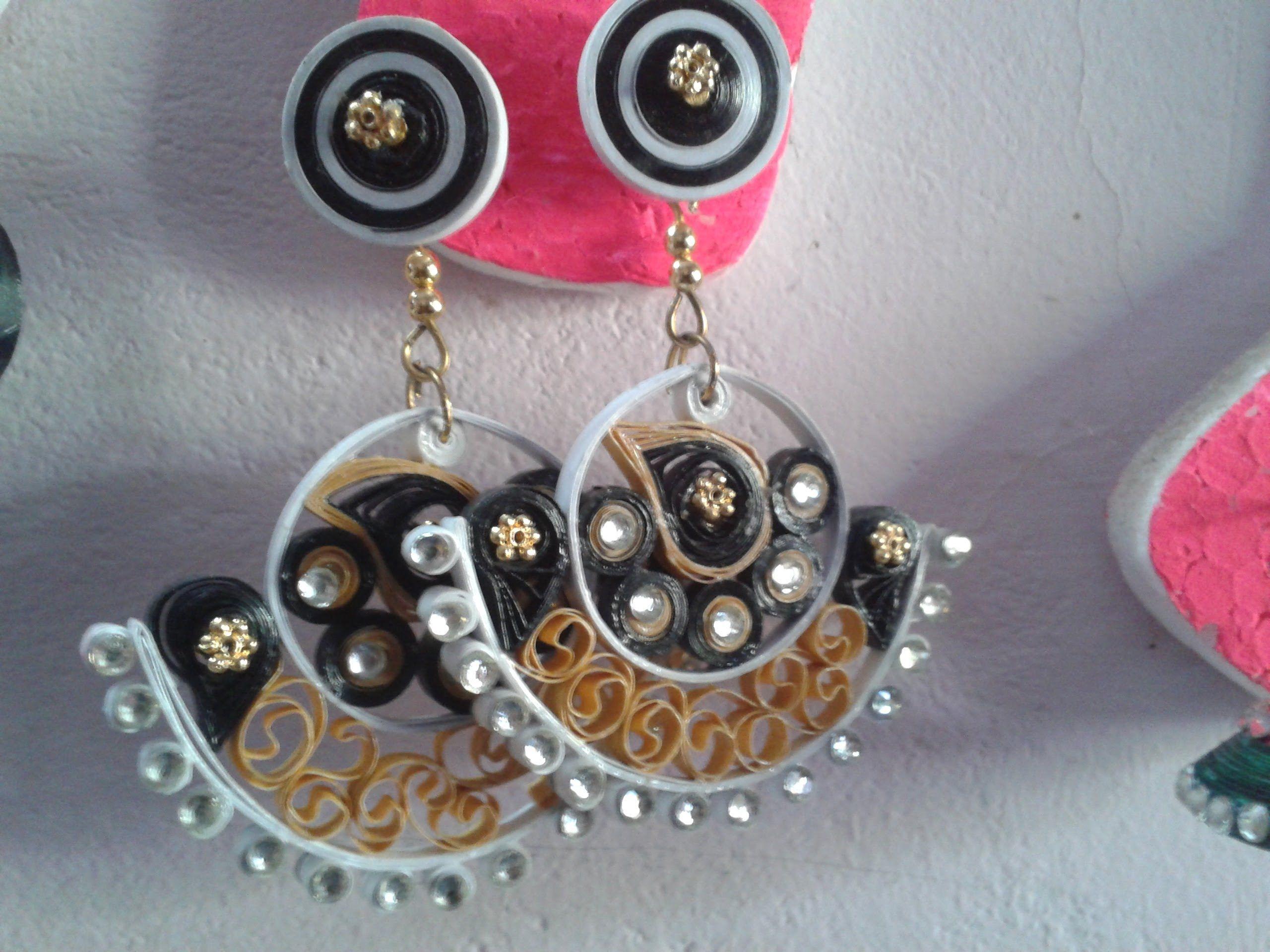 very simple method in paper jewellery making malayalam tutorial ...