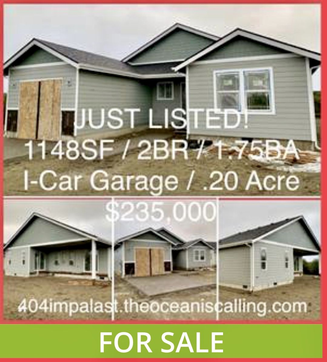 JUST LISTED! New Custom Built Cottage / 1148SF / 2BR / 1