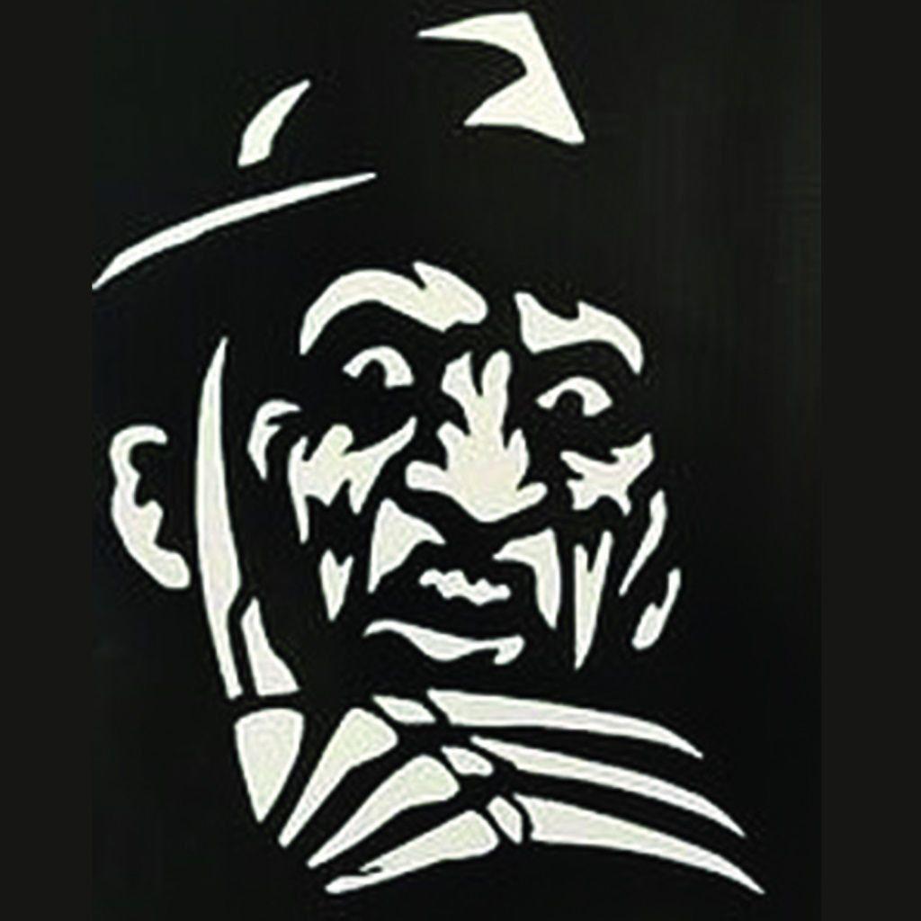 Freddy Krueger Nightmare On Elm Street White Vinyl Decal