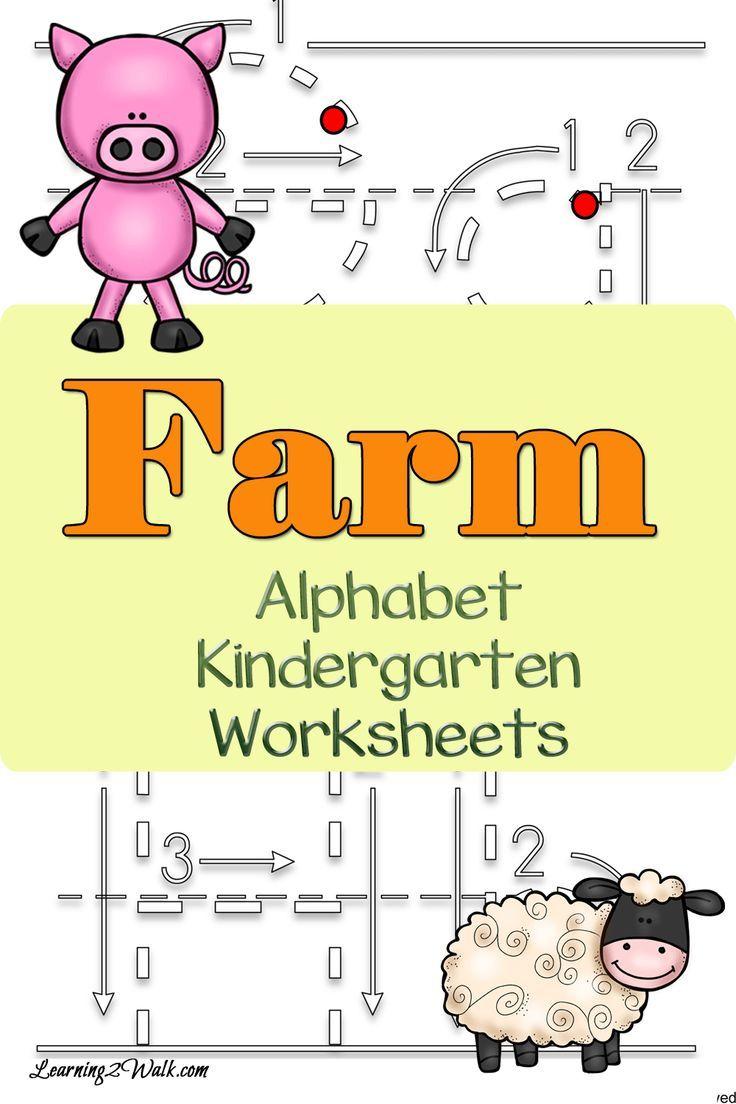 Farm Alphabet Kindergarten Worksheets Alphabet
