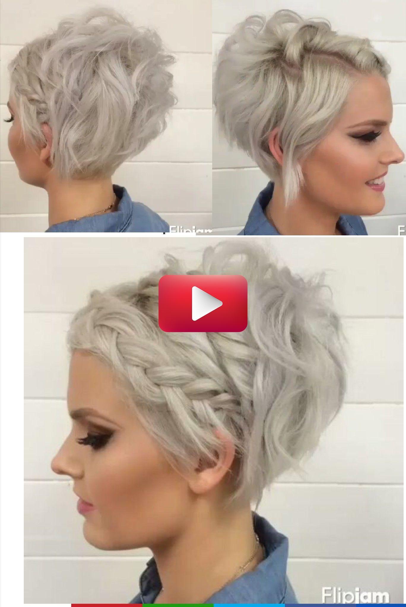 Side Braid Pixiecutundercut In 2020 Short Hair Styles Short Hair Updo Braids For Short Hair