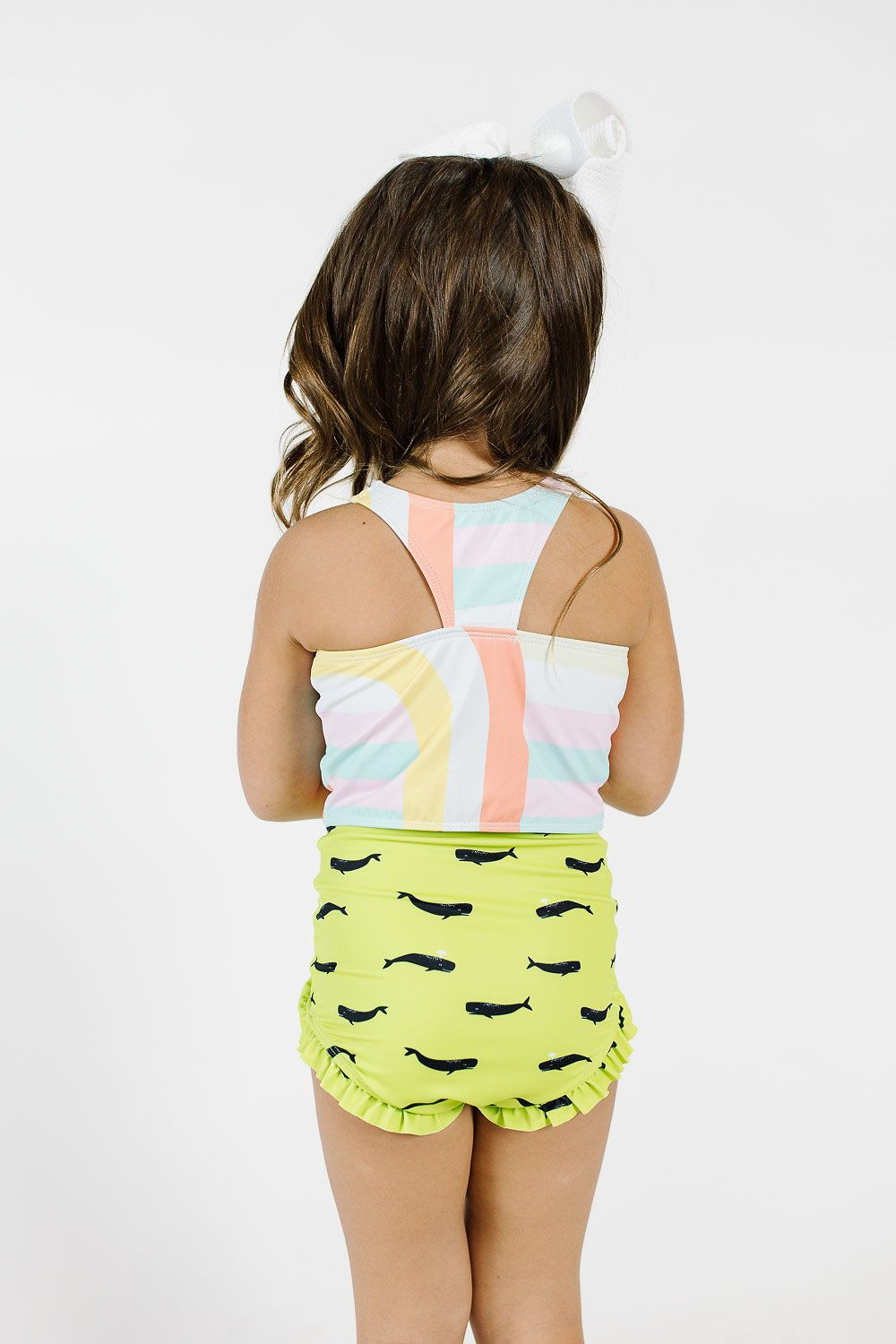 289a1d39aadaa Kortni Jeane    Kortni Jeane Swimmers    High Waisted Swimsuits    Little  Girls Swim    Modest Swimwear    Mini Racer Back Top    Mini All Ruffled Up  ...