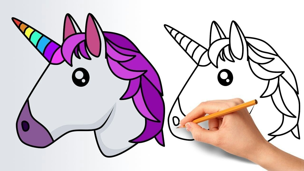 Pin By Frances Kavanagh On Colouring Pages Unicorn Drawing Easy Drawings Cartoon Drawings