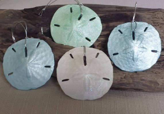 Beach Christmas Ornament, Sand Dollar Ornament, Beach Christmas