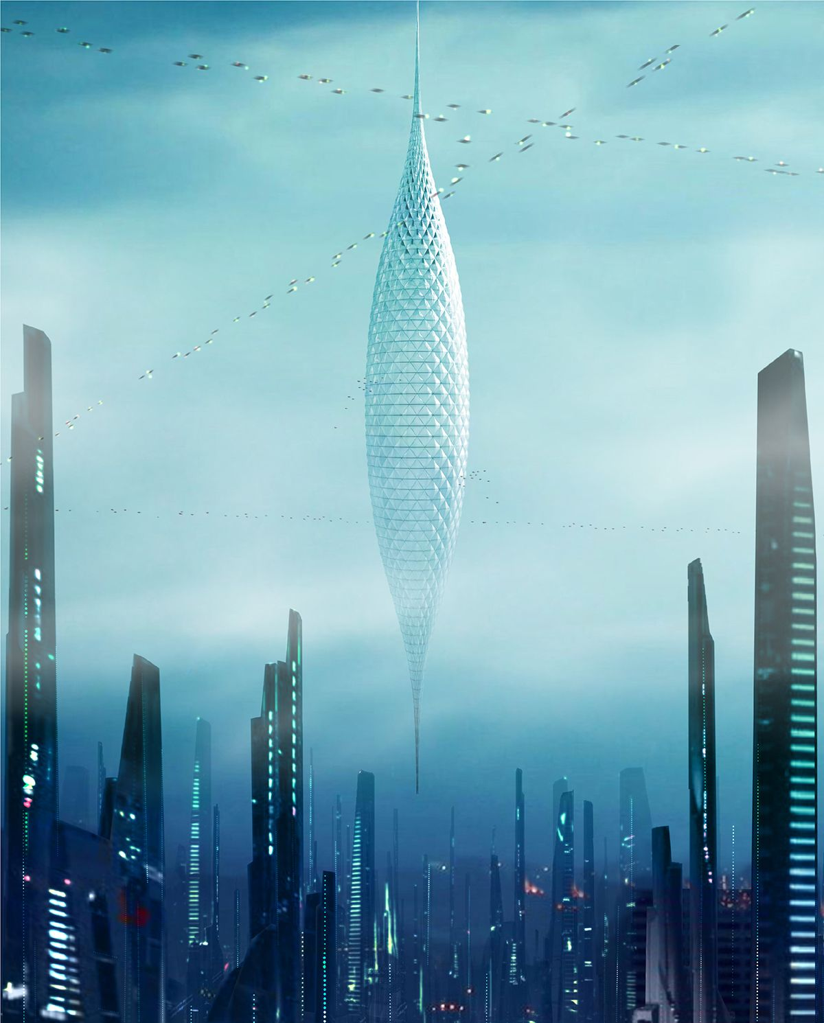 Amazing Architecture Magazine: The Planate Skyhanger: Skyscraper Hanging From Space