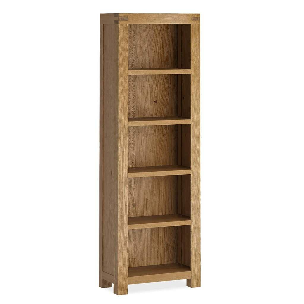 Abbey Grande Narrow Bookcase Slim Bookcase Bookcase Oak Furniture