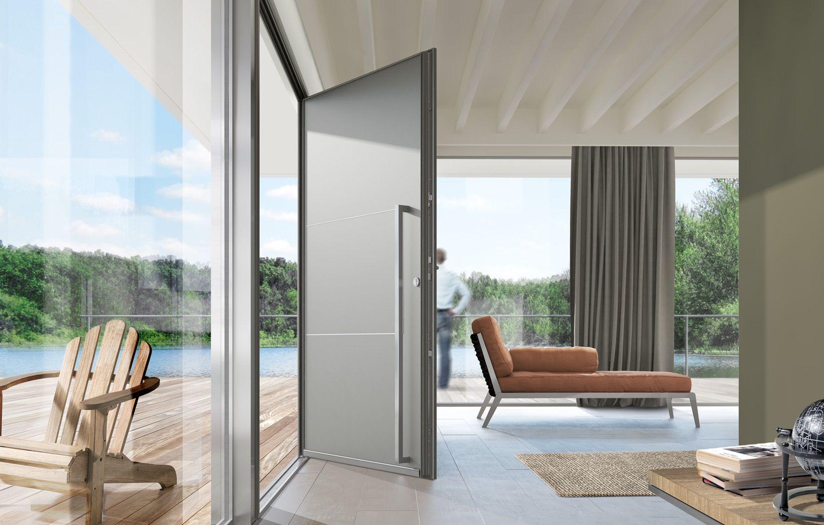 interesting porte entre aluminium swao modle cosy with. Black Bedroom Furniture Sets. Home Design Ideas