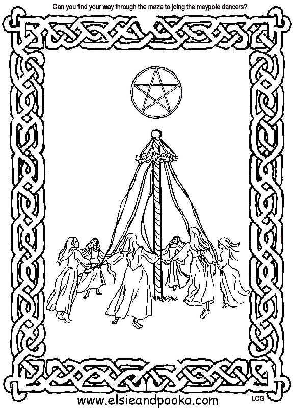 Beltane Maze Activity Coloring Pages Book Of Shadows Beltane
