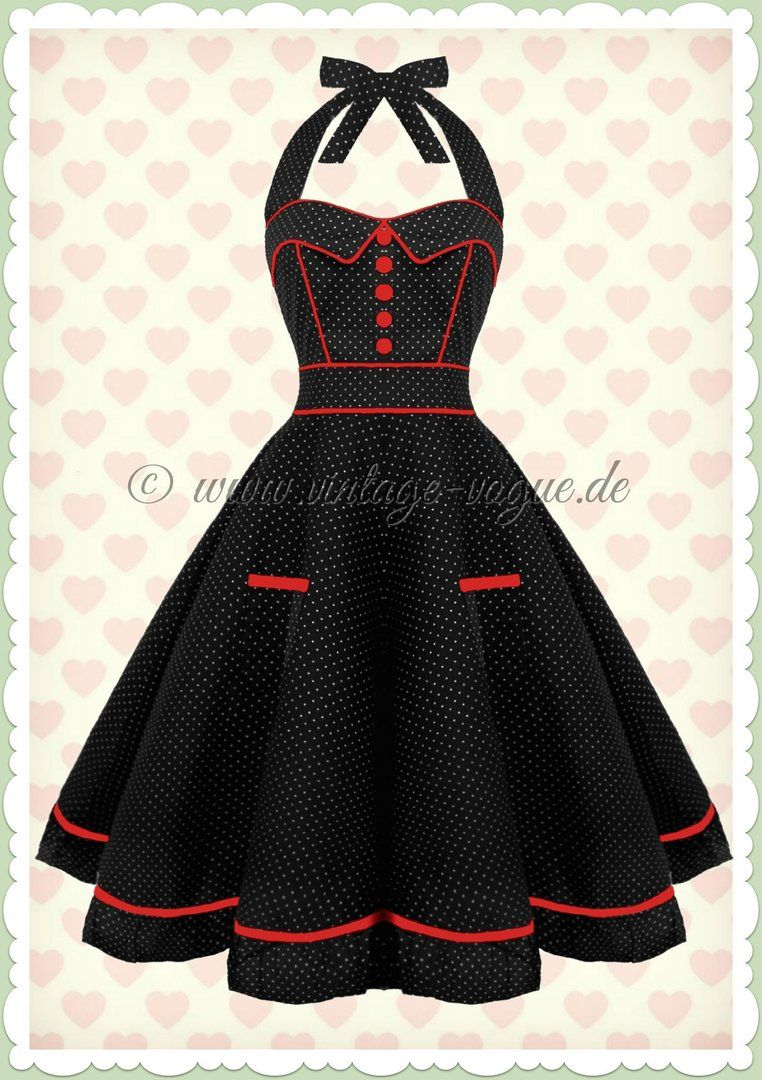check out 20558 4c548 Hell Bunny 50er Jahre Rockabilly Punkte Kleid - Vanity ...