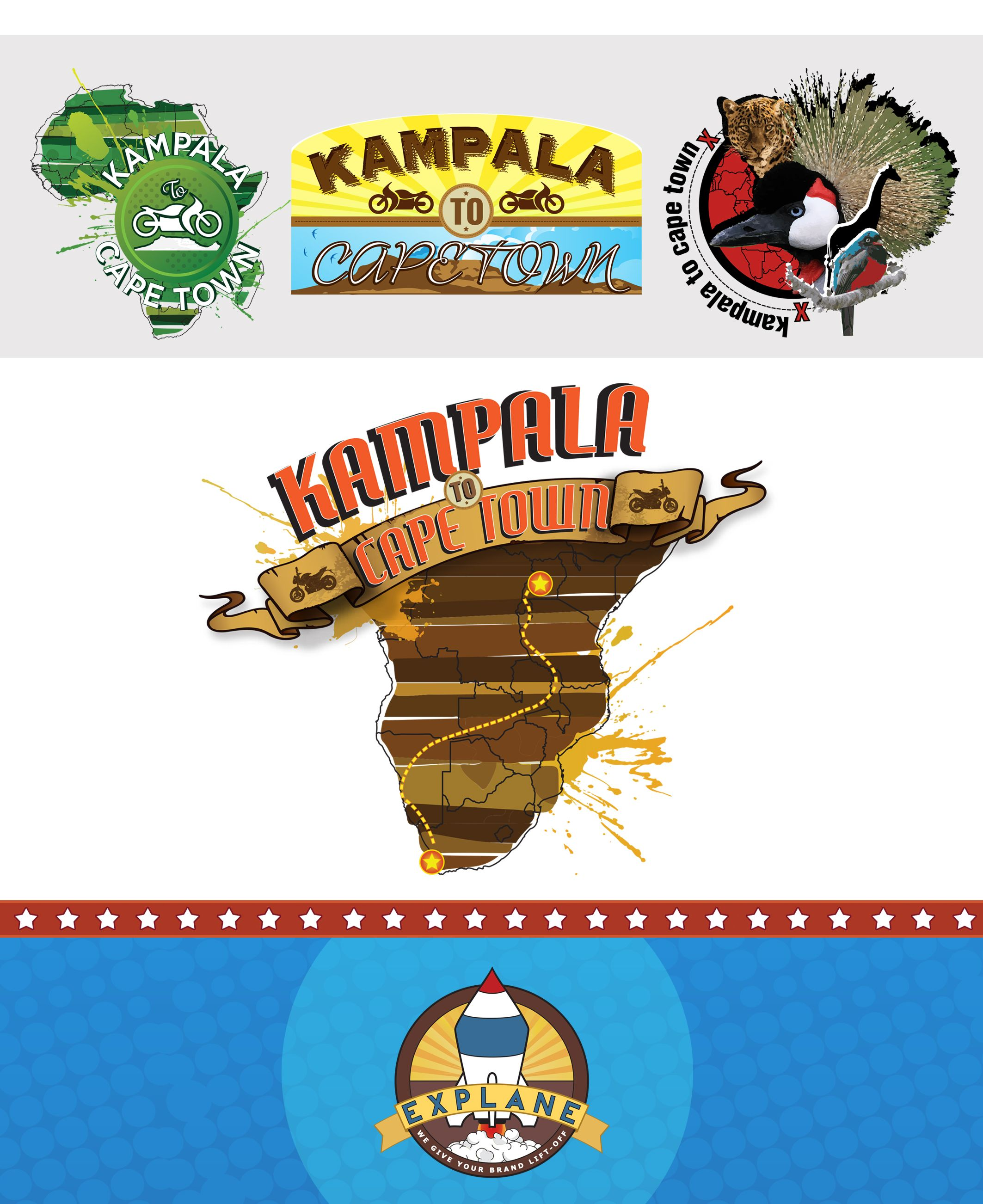 Logo Development for Kampala to Cape Town - Some good-hearted people decided to make a motorcycle trip from Kampala down to Cape Town in aid of Riders for Health