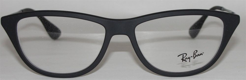 70e1091a7f ... reduced new authentic rayban womens eyeglasses rb7042 5364 matte black  cat eye 52 14 140 ebay