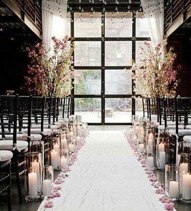 Elegant Dusk Wedding Ideas Candle Making Indoor Wedding