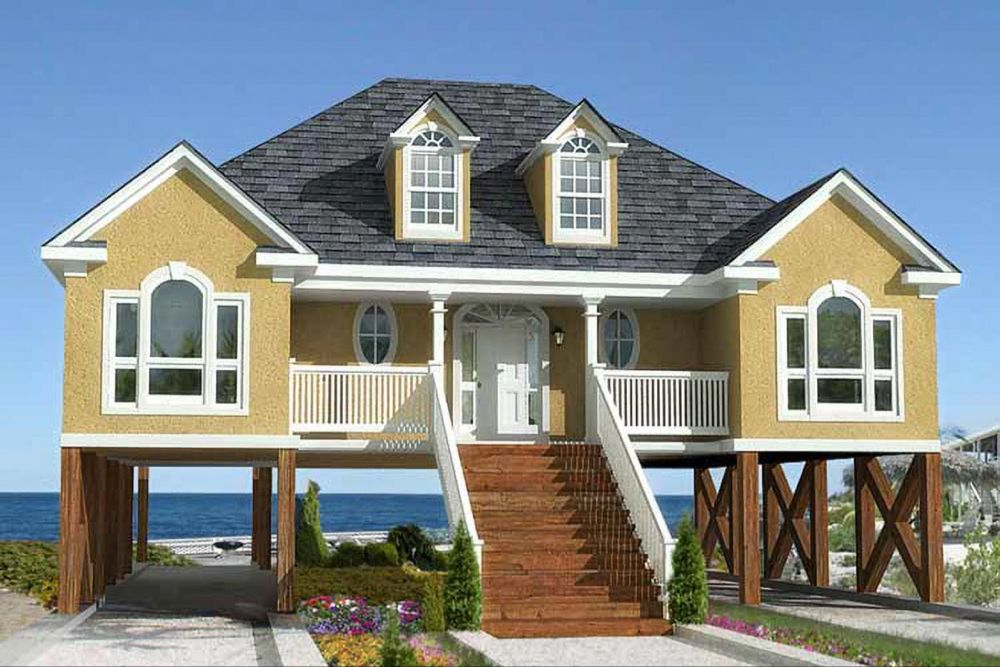 Plan 60053rc Low Country Or Beach Home Plan In 2021 Stilt House Plans House On Stilts Country Style House Plans