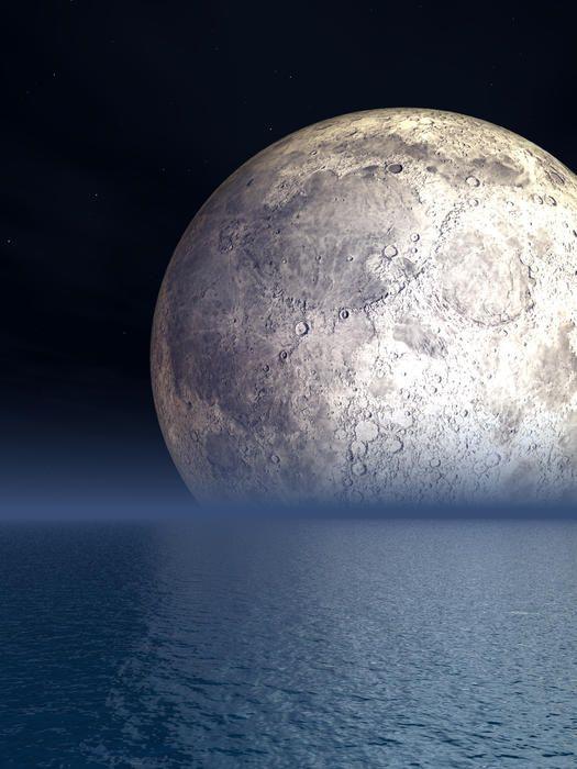 ✯ Night Moon Over The Sea