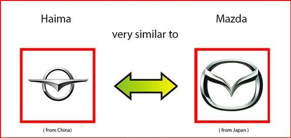 Haima logo very similar to Mazda logo | Similarity Between