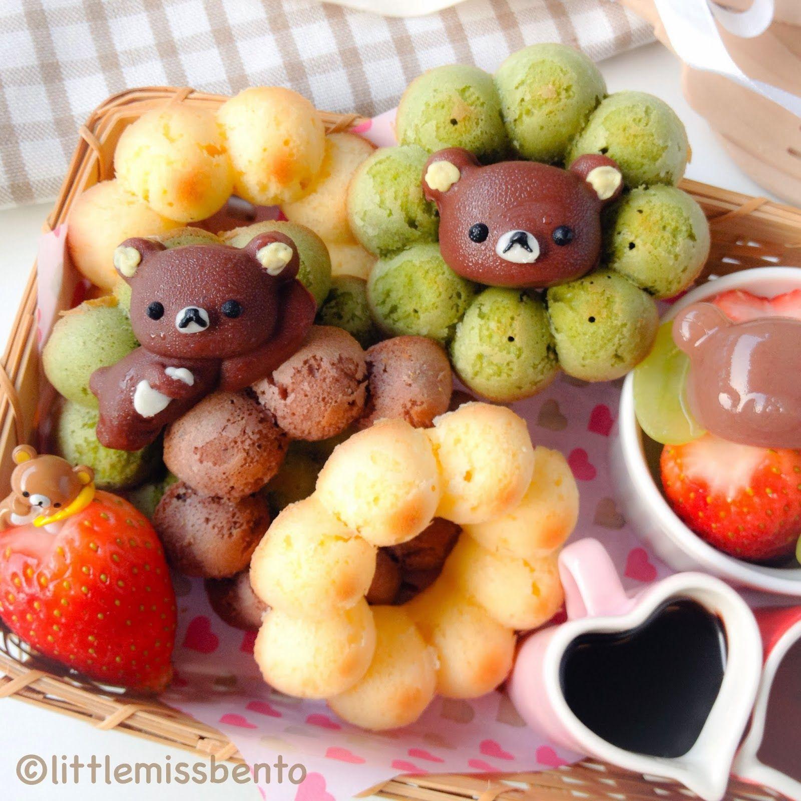 Little Miss Bento  シャリーのかわいいキャラベン: Rilakkuma Donut Bento リラックマドーナツのキャラベン