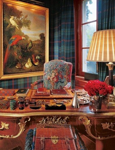 Dominating A Corner Of The Master Sitting Room Is A Louis Xv Bureau Plat Attributed To Jacques Dubois Fro Ralph Lauren Home Enchanted Home Ralph Lauren House
