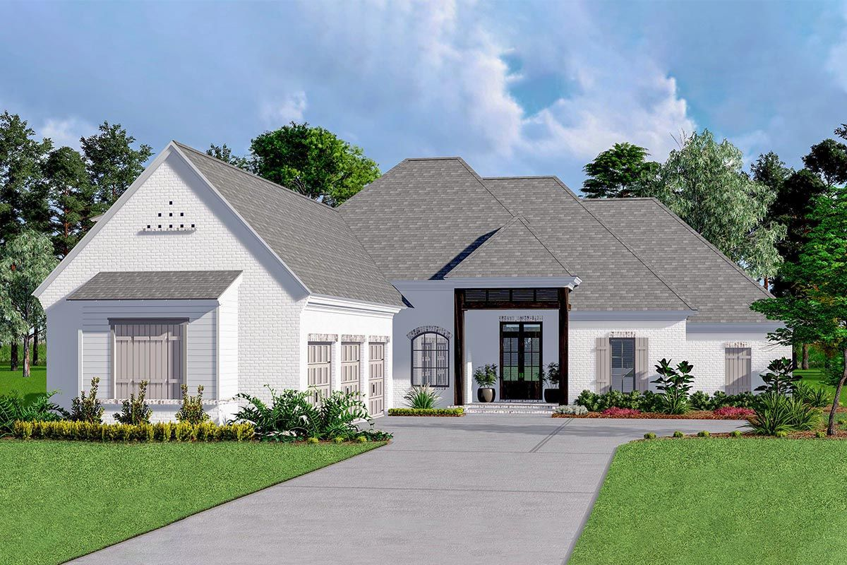 Exquisite Acadian House Plan With 3 Car Garage 510060wdy Architectural Designs House Pla Acadian House Plans Architectural Design House Plans House Plans