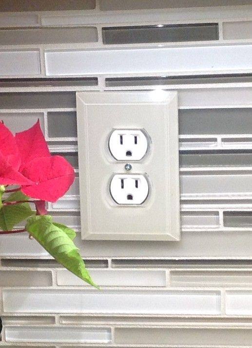 Clear Beveled Gl Switch Plates Paint The Back Side To Match Your Backsplash