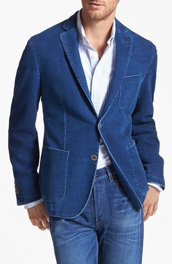 Lubiam Denim Effect Cotton Sportcoat available at #Nordstrom ...