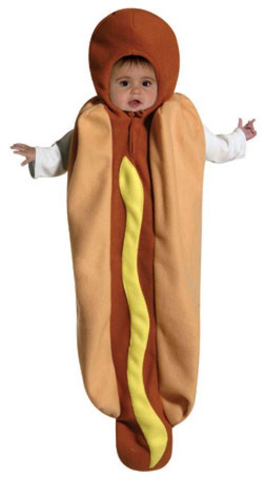 Baby Hot Dog costume  http://barnaclebill.hubpages.com/hub/babyhalloweencostumes