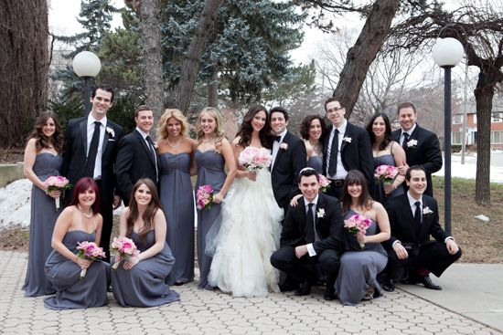 Cheap Wedding Gowns Toronto: Pretty In Pink And Grey In Toronto, Ontario
