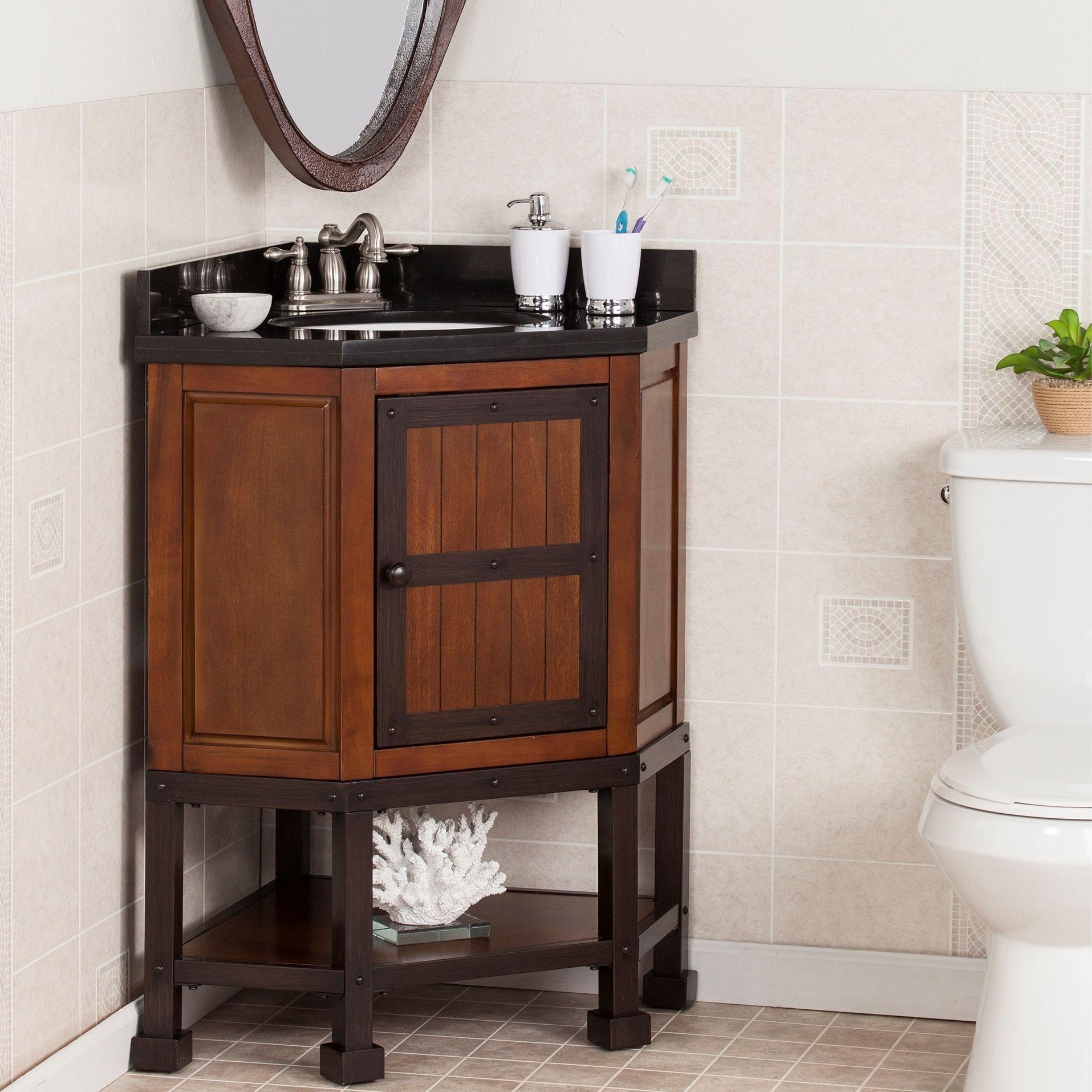harper blvd edgerton granite top corner bath vanity sink os3787tb bronze corner bath. Black Bedroom Furniture Sets. Home Design Ideas