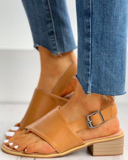 Hollow Out Criss Flip Flops Flat Sandals