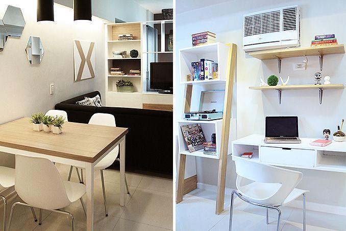 Small Space Ideas For A 34sqm Condo In Makati Condominium Interior Design Living Room Design Small Spaces Condo Interior