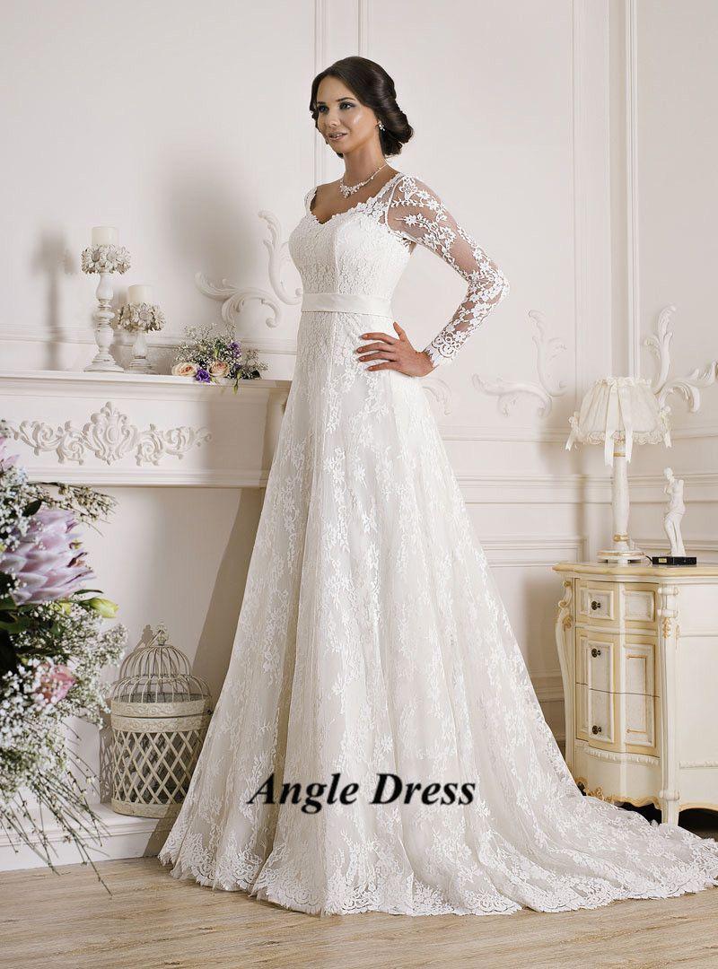 Vintage Long Sleeve Lace Wedding Dresses Corset Back Plus Size Bridal G White Lace Long Sleeve Wedding Dress Long Sleeve Wedding Dress Lace Cheap Wedding Dress [ 1080 x 800 Pixel ]