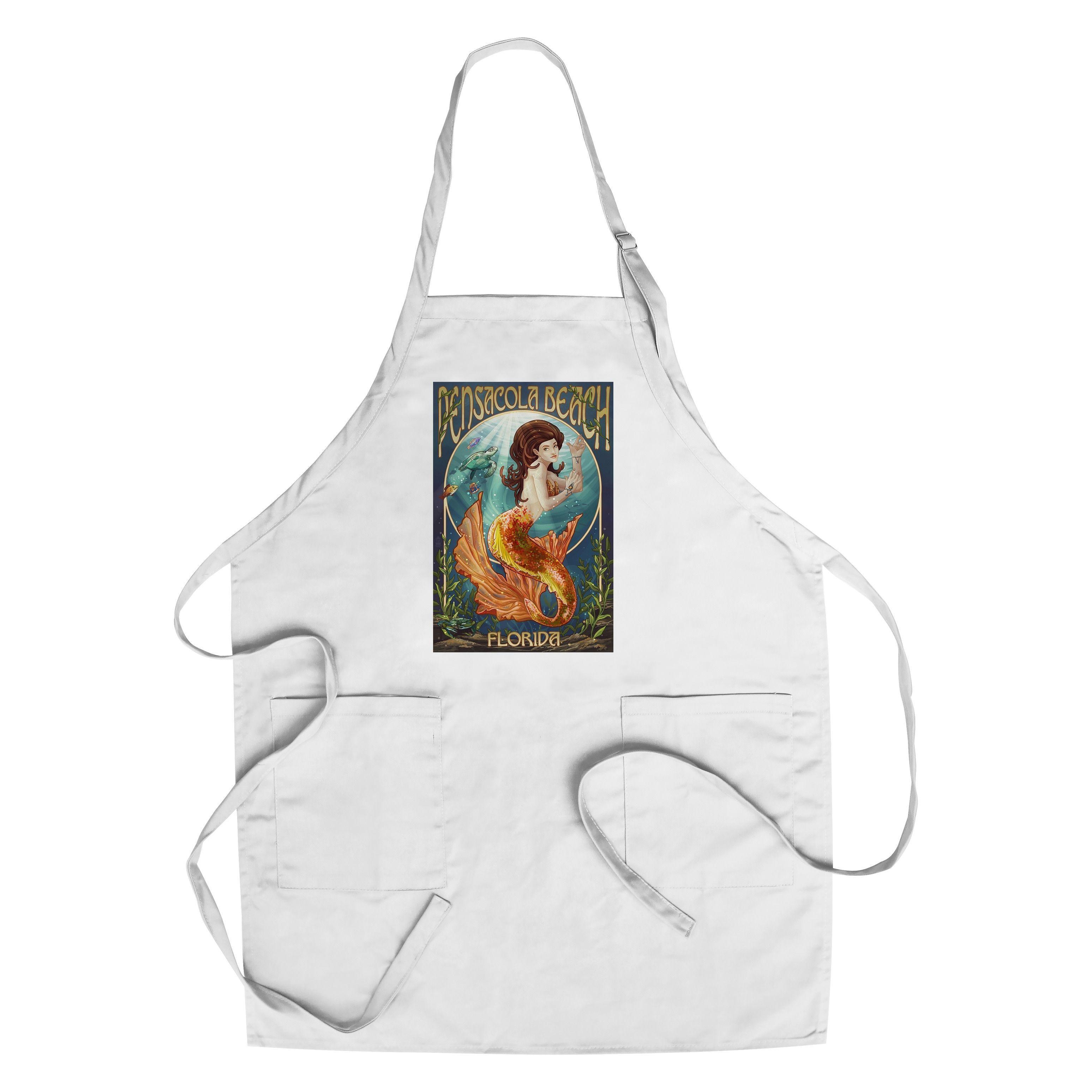 Pensacola Beach, Florida - Mermaid - LP Artwork (Cotton/Polyester ...