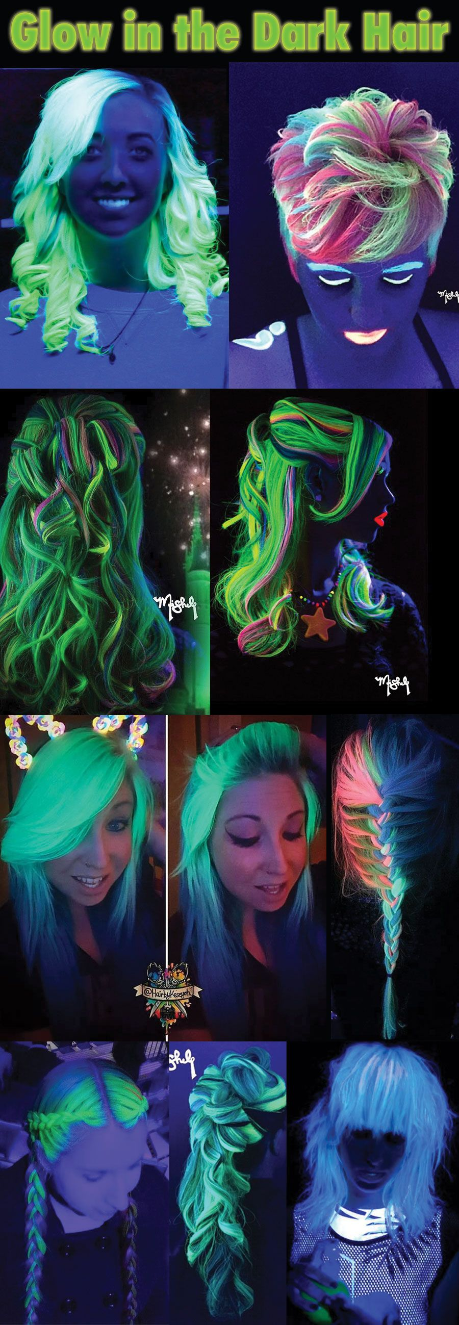 glow in the dark hair black light hottest trend for 2016
