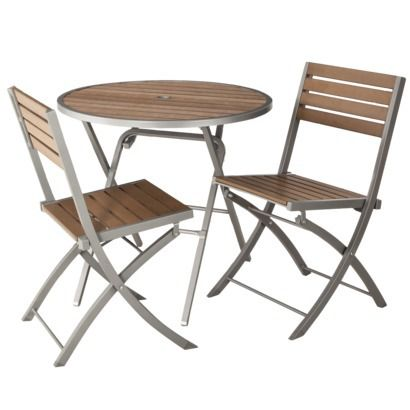 Threshold™ Bryant 3 Piece Faux Wood Patio Bistro Furniture Set Http://