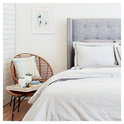 Yarn Dye Stripe Duvet Cover Set Threshold Target