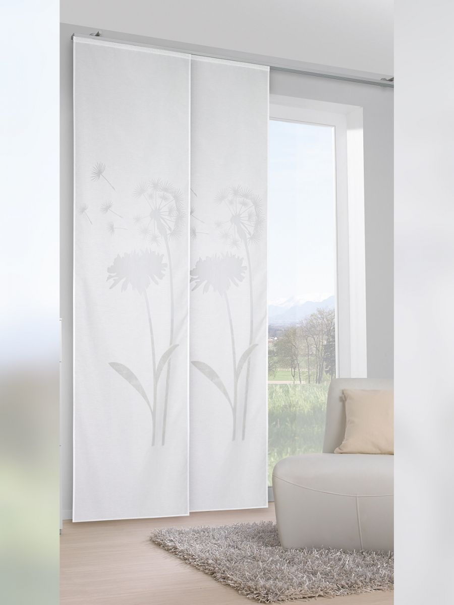 Ausbrenner Flachenvorhang Mit Pusteblumen Masse Ca 255 X 60 Cm Hxb Small Living Room Small Living Room