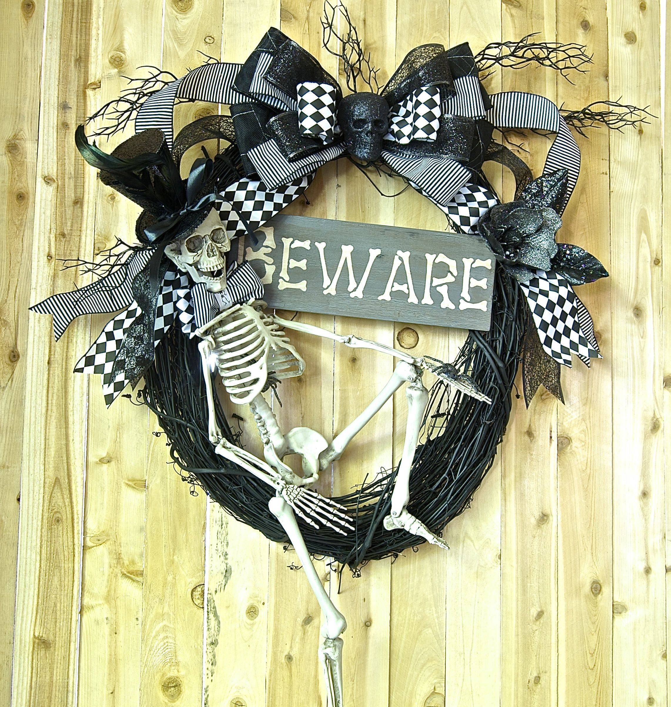 Etsy Halloween Decorations mr. bones halloween skelly wreath 2013 collectionsigns, stuff