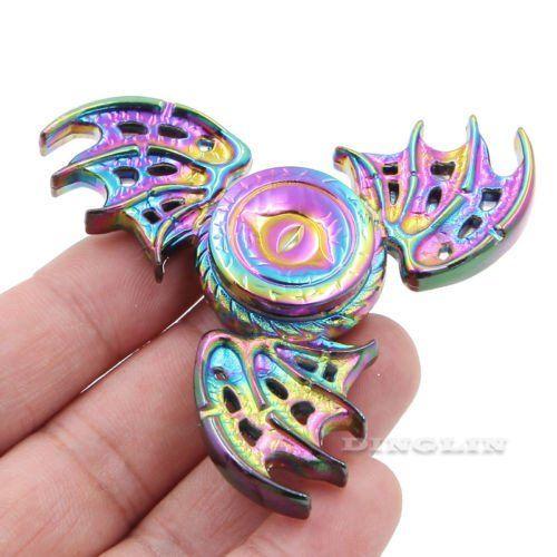 Rainbow Dragon Wings EDC Hand Spinner Fidget Focus Toy ADHD Autism Finger Gyro