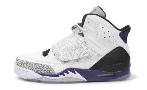 reputable site e7966 85461 Nike Air Jordan Son Of Mars Mens Basketball Shoes White Club Purple-Cool  Grey-Black 512245-106
