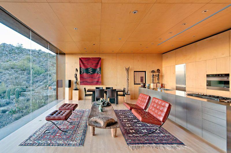Desert Nomad House minimal house in desertrick joy - homaci | living room